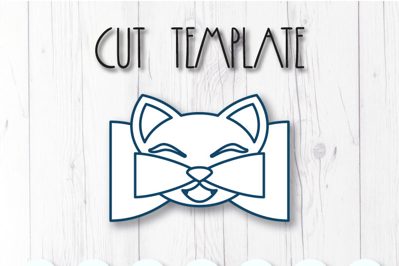 Cat Hair Bow Template Svg Dxf Pdf With Diy Tutorial By Artiteki