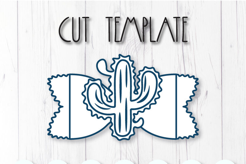 Cactus Hair Bow Template Svg Dxf Pdf With Diy Tutorial By