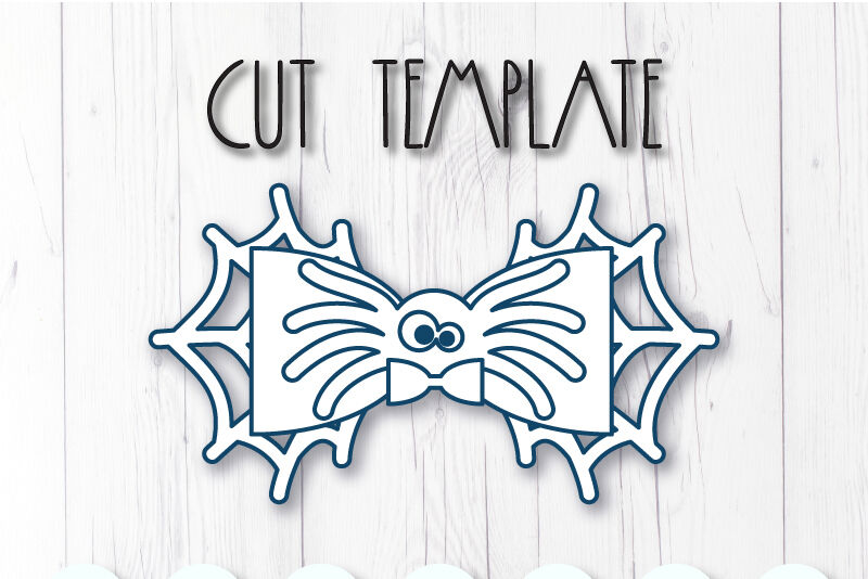 Spider Hair Bow Template Svg Dxf Pdf With Diy Tutorial By
