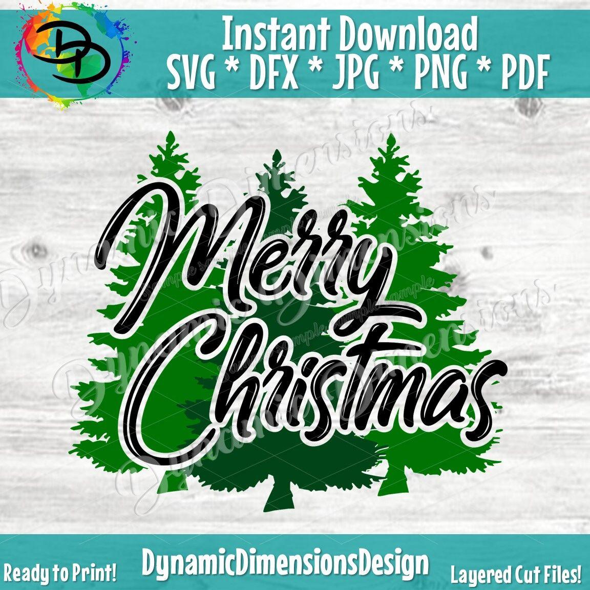 Merry Christmas Svg Christmas Tree Svg Christ Mas Svg Christmas