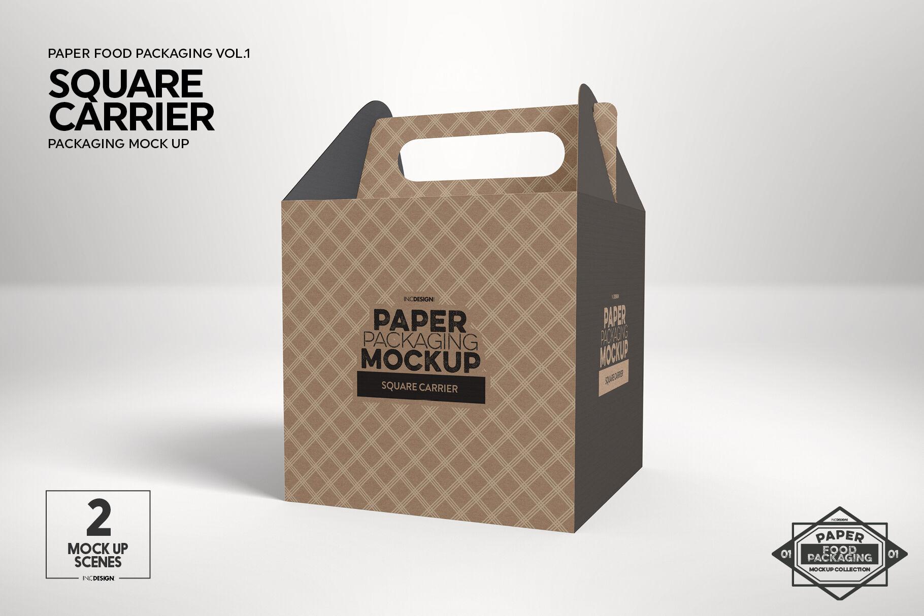 Download Kraft Paper Snack Bag Mockup Yellow Images