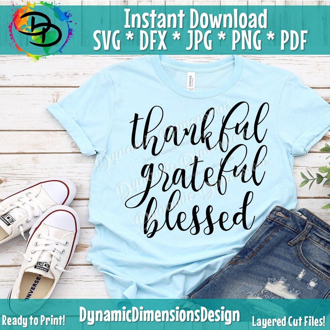 Thankful Grateful Blessed Fall Svg Bundle Fall Svg Fall Svg