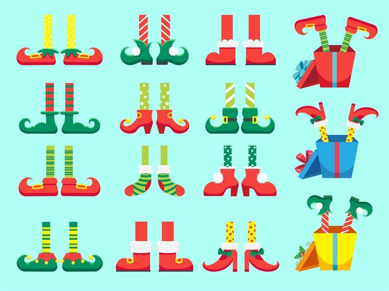 Christmas Elf Feet Shoes For Elves Foot Santa Claus Helpers