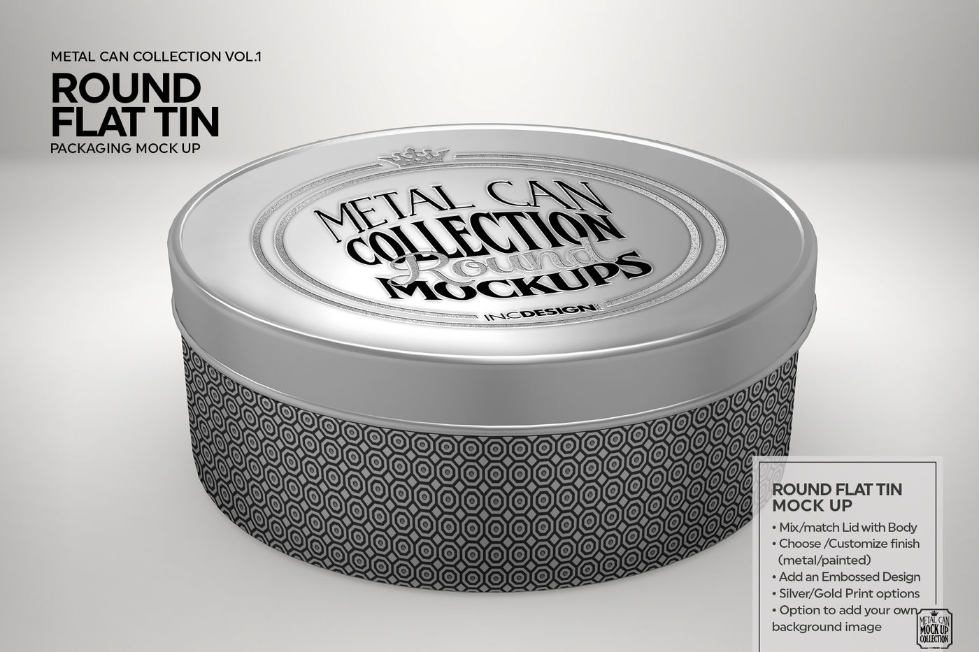Download Two Glossy Round Tin Boxes Mockup Yellowimages