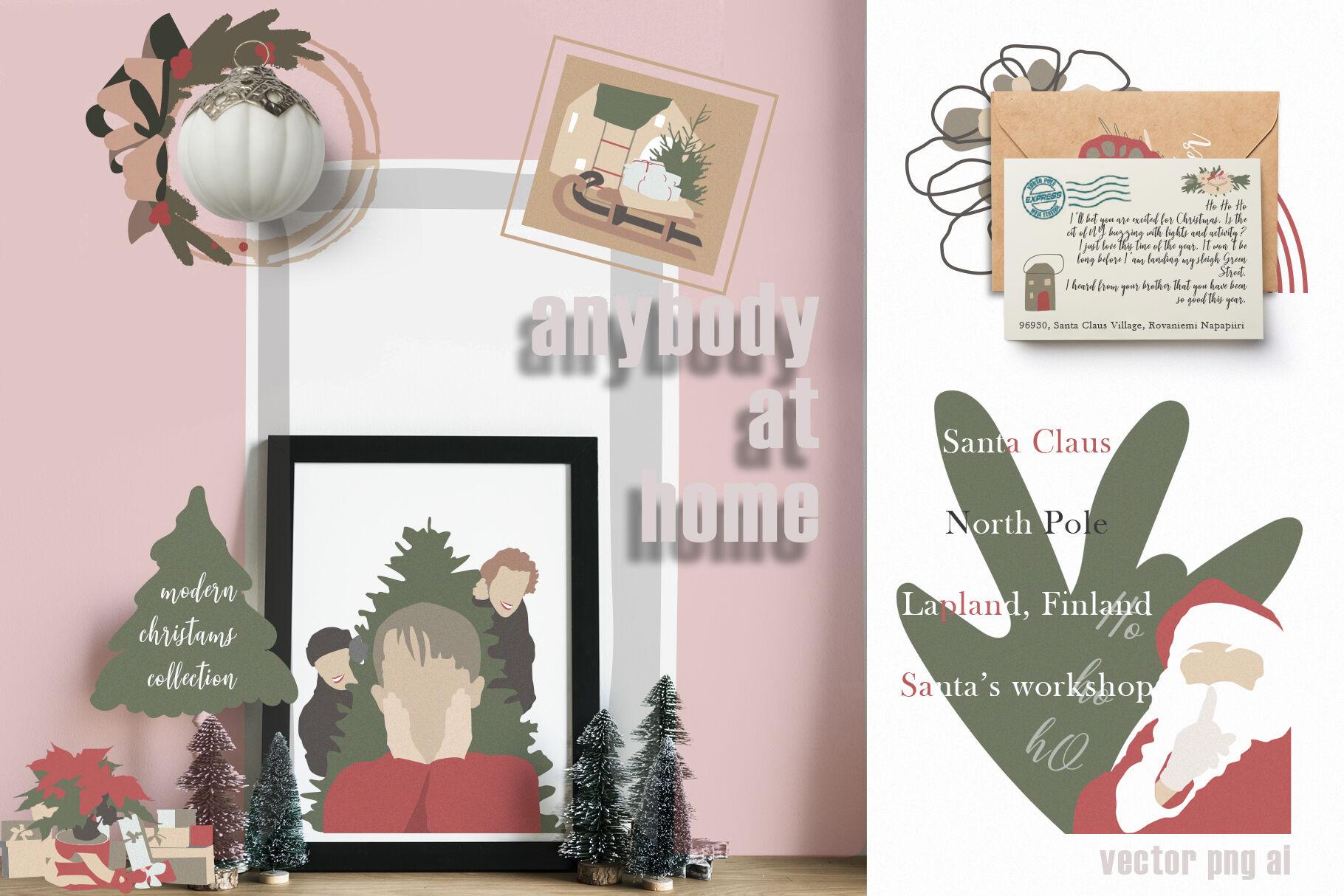 Christmas Secret Modern Graphic Set By Ann Art House