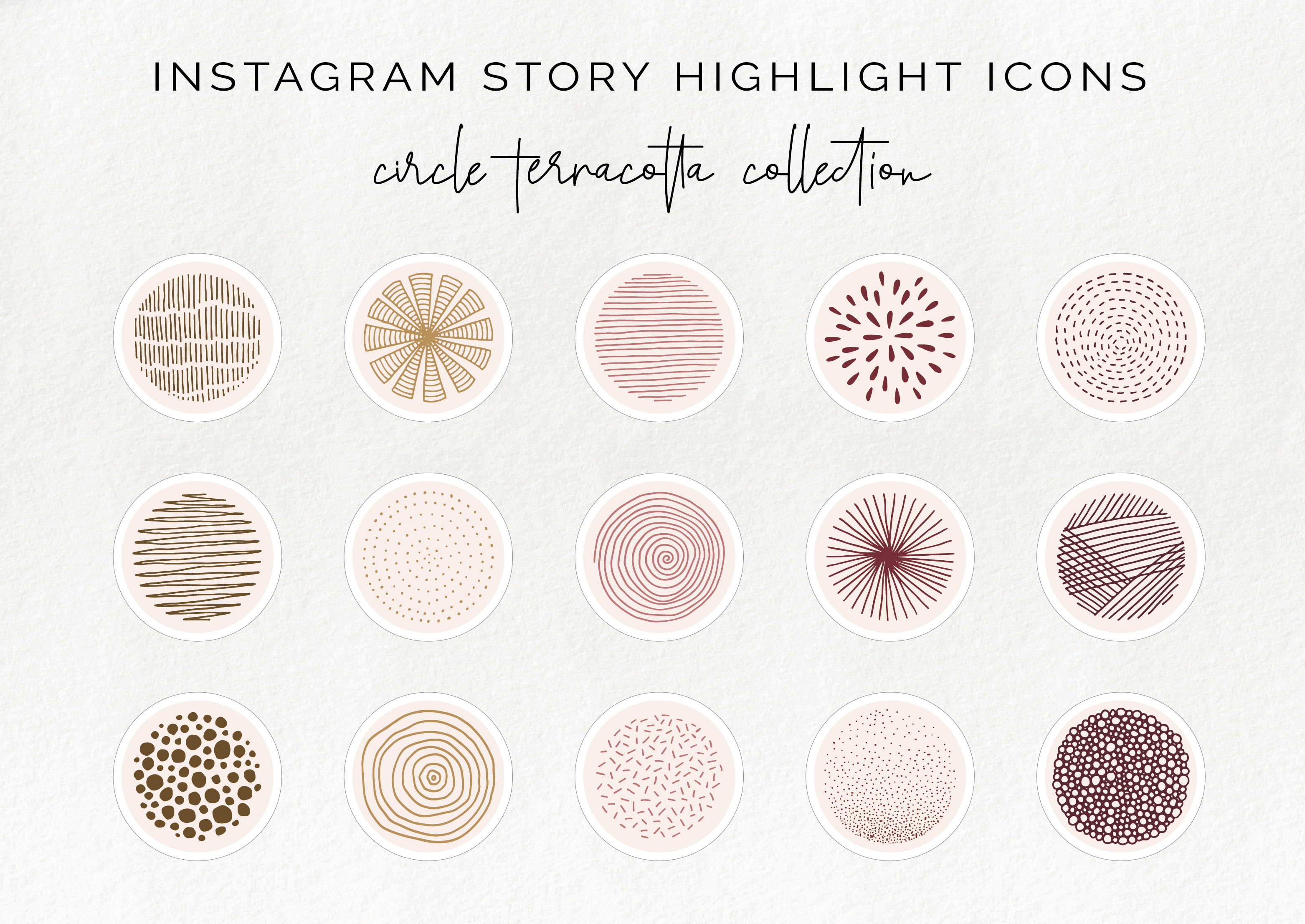 15 Instagram Stories Highlight Icon Terracotta Circle Story