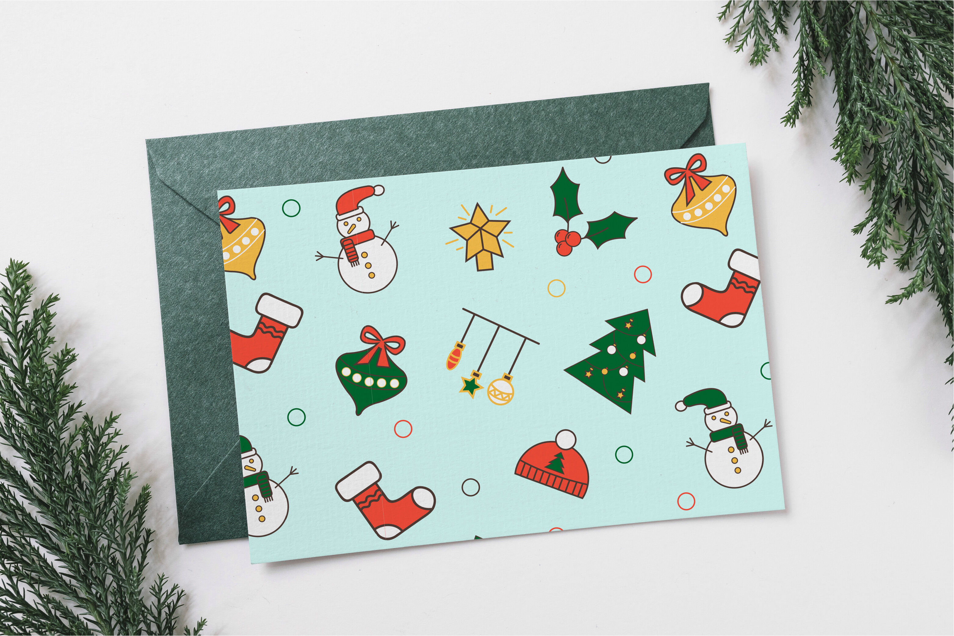 Cute Christmas Patterns By Wouldulearn Thehungryjpeg Com
