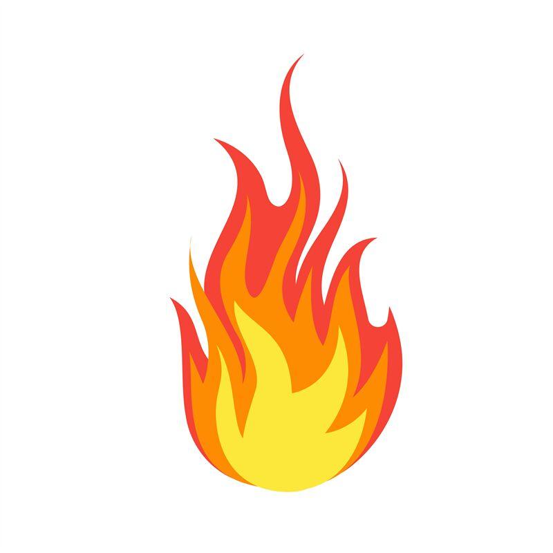 Fire Emoji Simple Light Creative Dangerous Energy Flame Burns