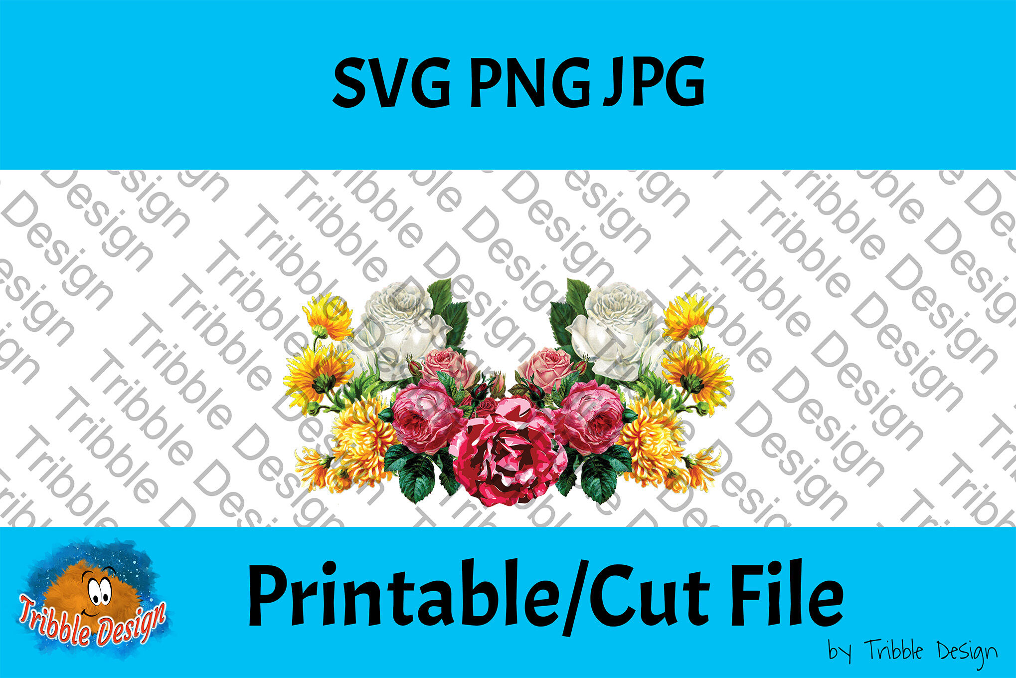 Vintage Flowers Bundle Svg Flowers Svg Decal Roses Floral Cut