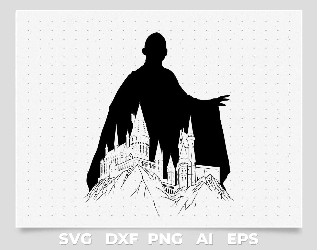 Voldemort Silhouette Svg File By Cuttingsvg Thehungryjpeg Com
