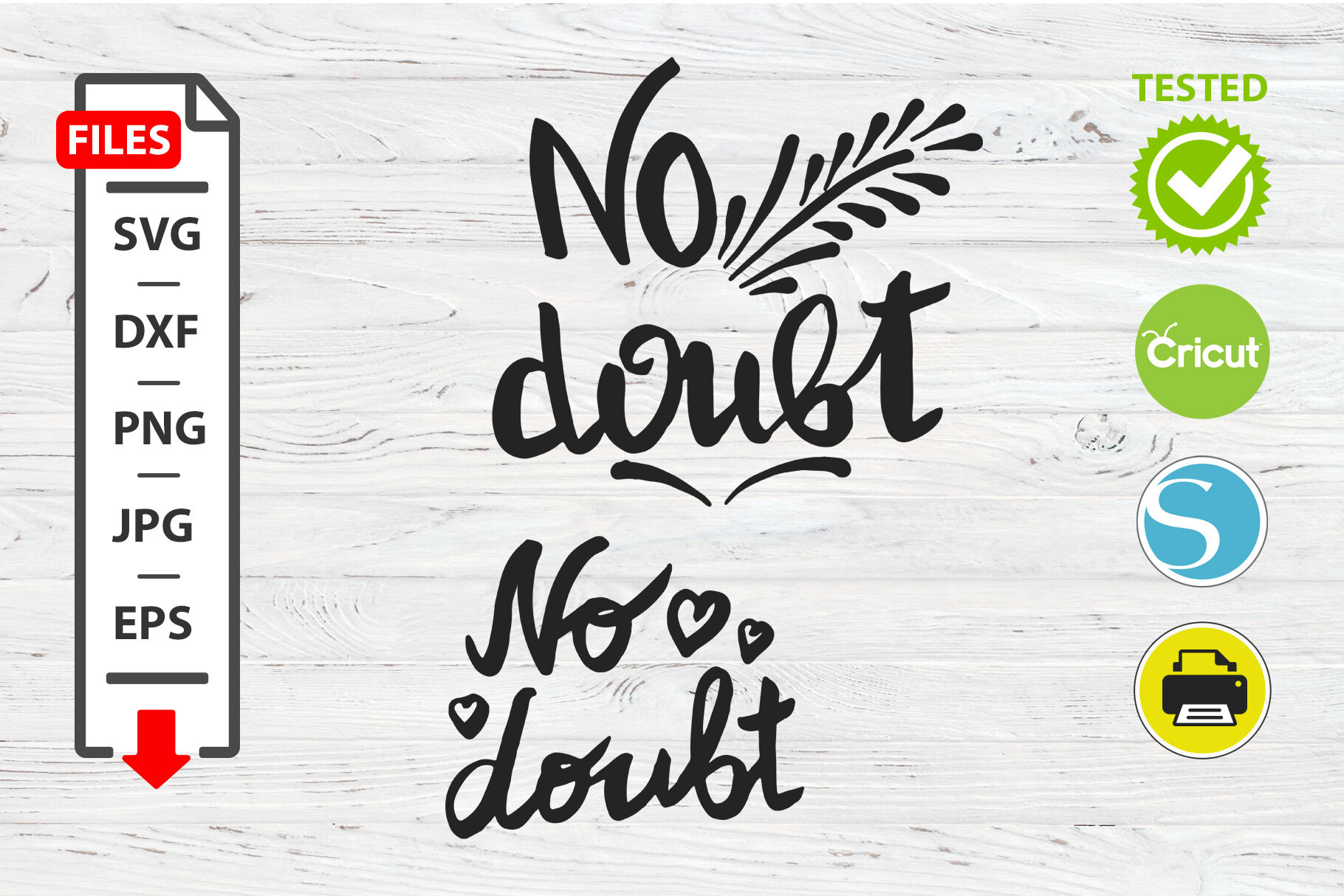 No Doubt Motivational Quote Svg Cricut Silhouette Design By