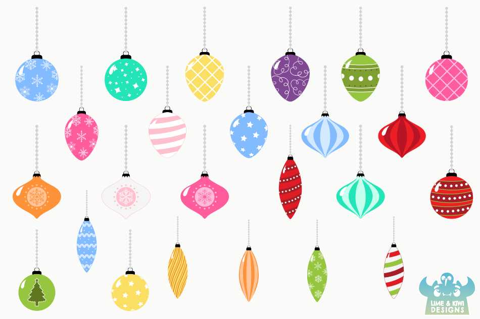 christmas ornaments clipart instant download vector art by lime and kiwi designs thehungryjpeg com christmas ornaments clipart instant