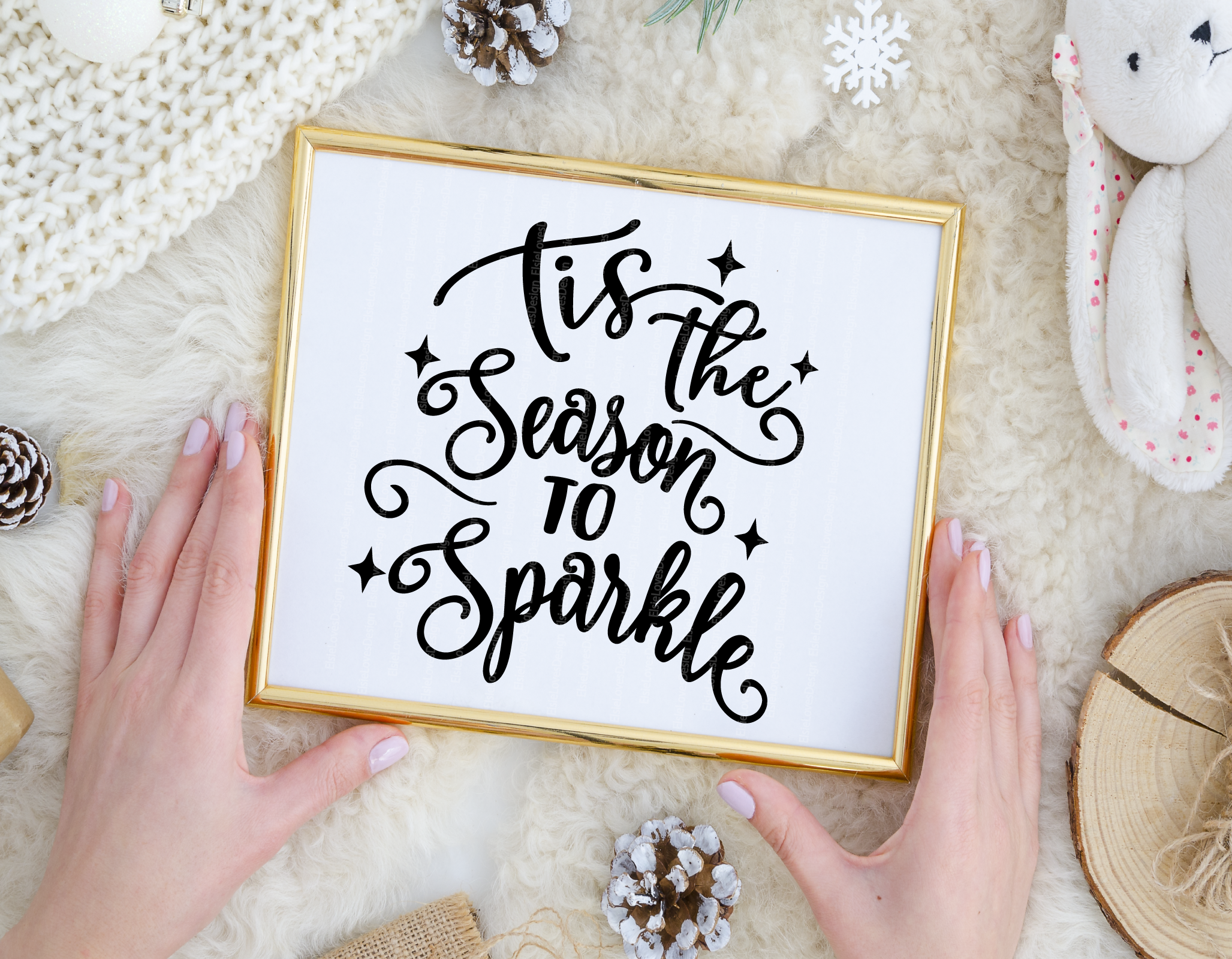 Tis The Season To Sparkle Svg By Elsielovesdesign Thehungryjpeg Com