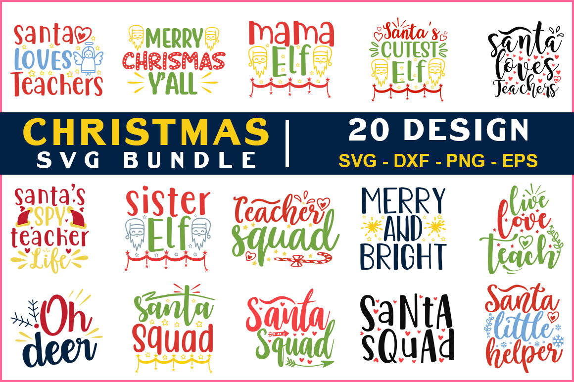 Christmas Svg Bundle Vol 17 By Teewinkle Thehungryjpeg Com