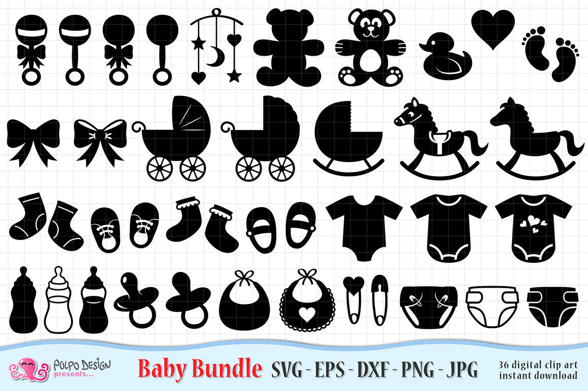 Baby Svg Bundle Svg Eps Dxf Jpg And Png By Polpo Design