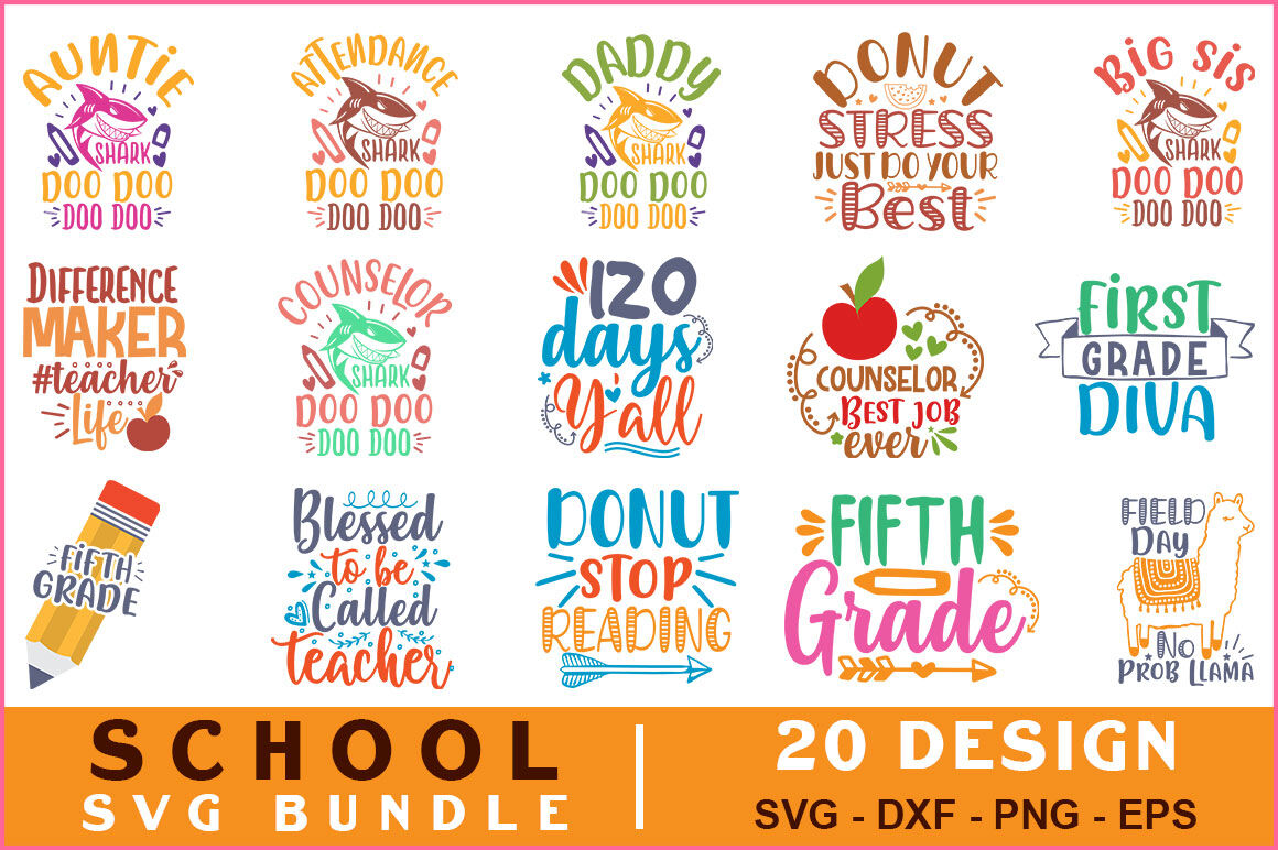 School Quotes Svg Bundle Vol 11 By Teewinkle Thehungryjpeg Com