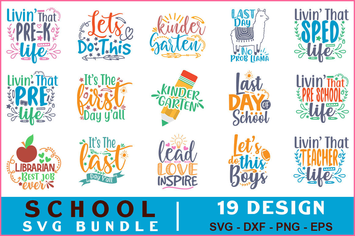School Quotes Svg Bundle Vol 13 By Teewinkle Thehungryjpeg Com