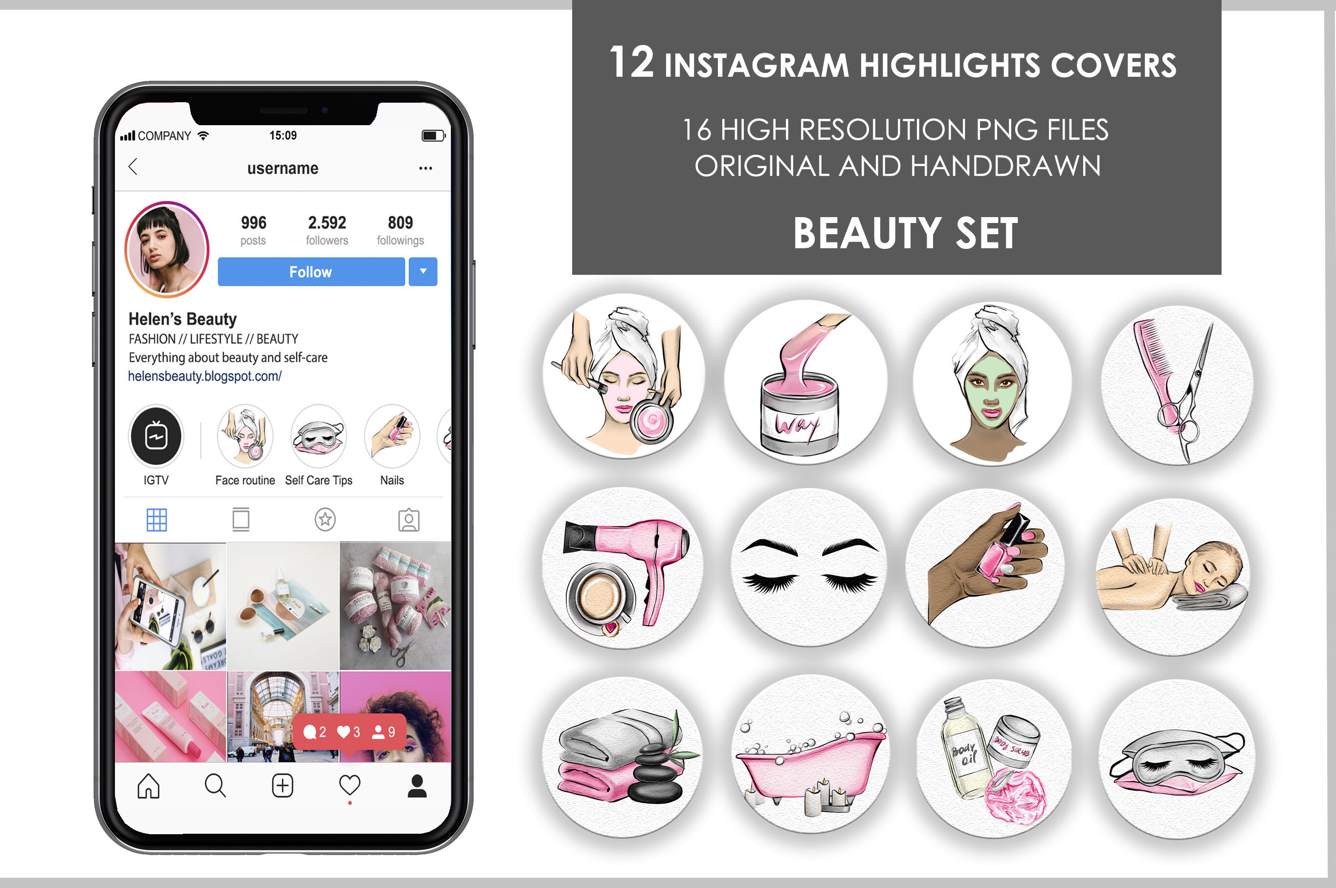 Beauty Icons Instagram Highlights Covers By Olgaburunovaart