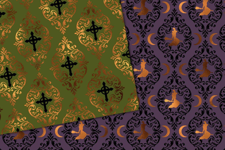 Halloween Damask Digital Paper By Digital Curio Thehungryjpeg Com