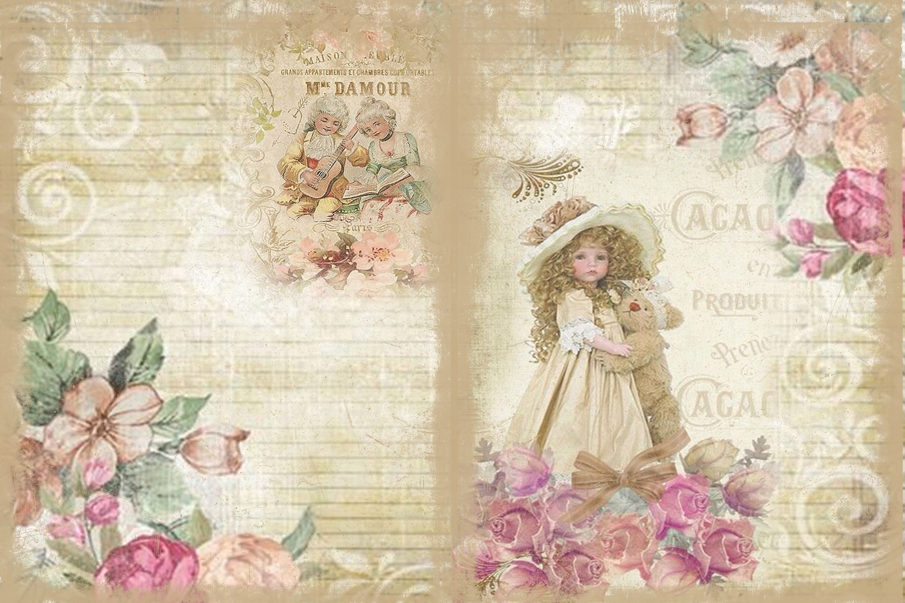 Chambre Style Shabby Chic printable journal kit shabby chic and grunge with free