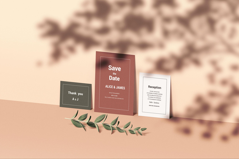 Wedding Invitation Set Mockup By Graphiclist Thehungryjpeg Com