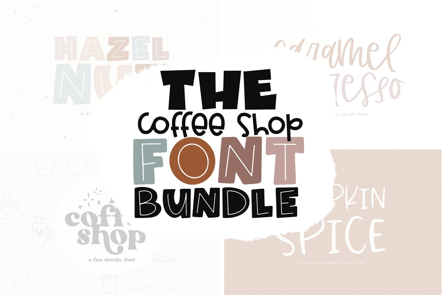 The Coffee Shop Font Bundle By Ka Designs Thehungryjpeg Com