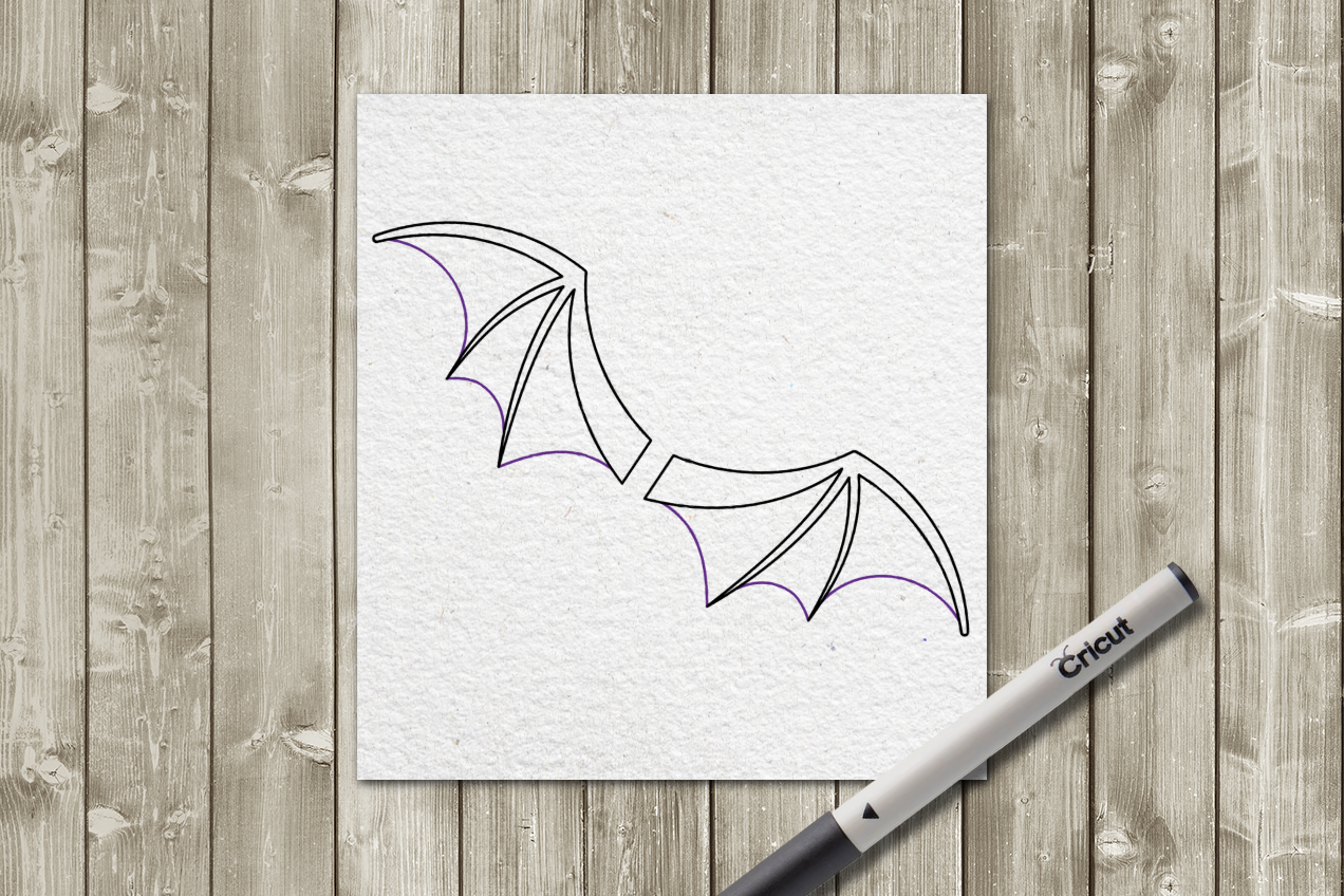 Bat Wings Single Line Sketch For Pens Svg Png Dxf By