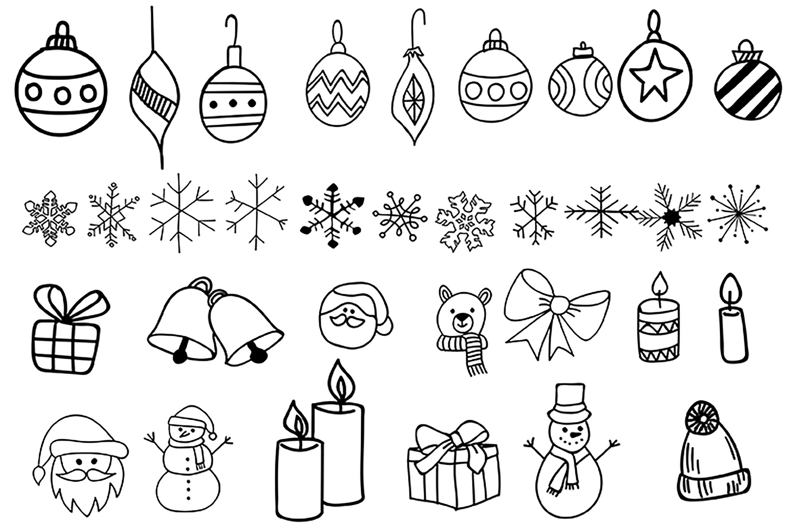 Hand Drawn Christmas Doodles By