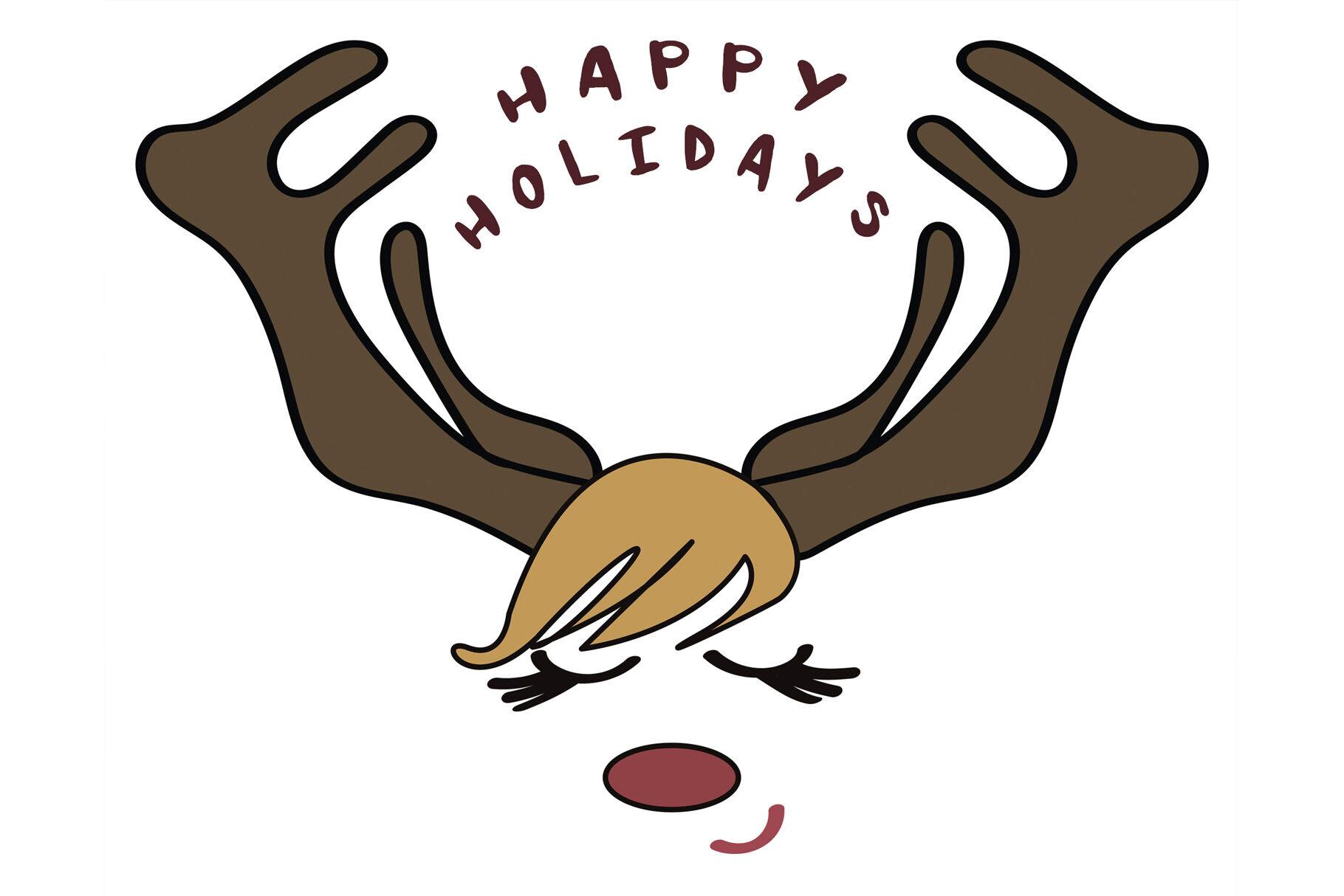 Christmas Reindeer Face By Inna Lytvynchuk Thehungryjpeg Com