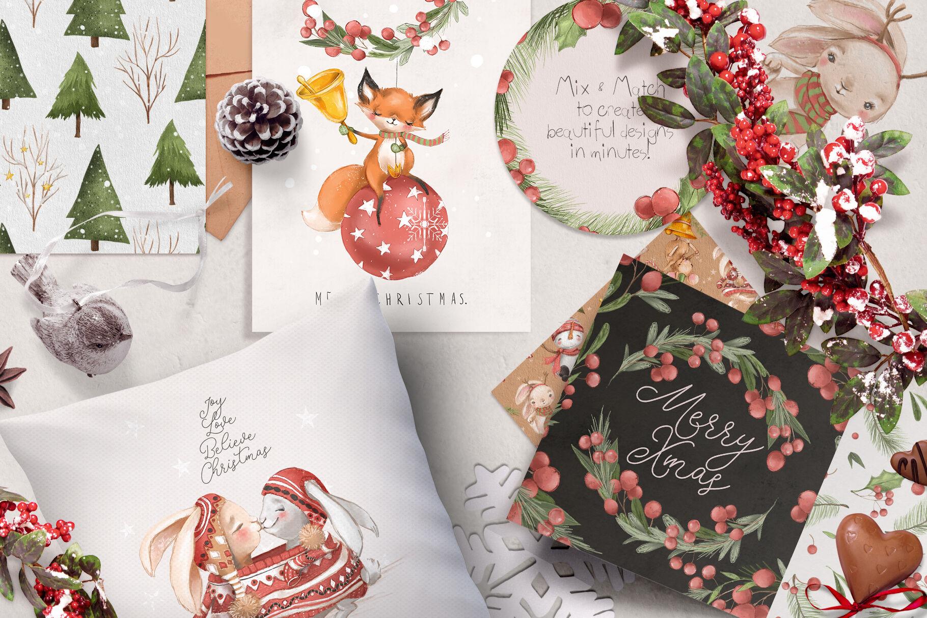 Merry Christmas By Anna S Creations Thehungryjpeg Com