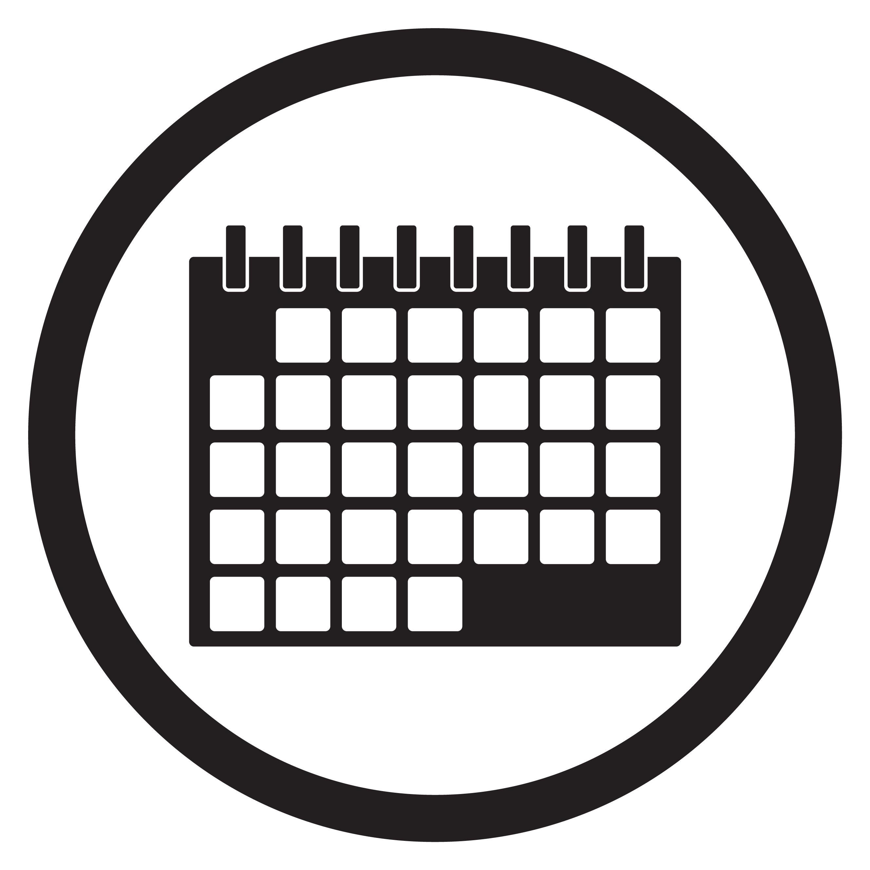 Calendar Icon Black White By 09910190 Thehungryjpeg Com