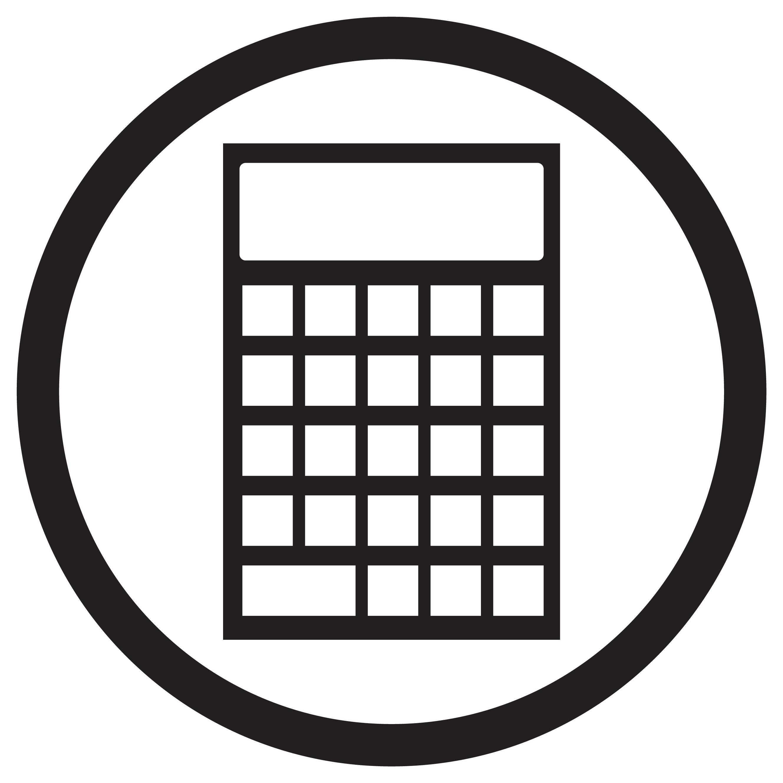 Device Calculator Icon Black White By 09910190 Thehungryjpeg Com