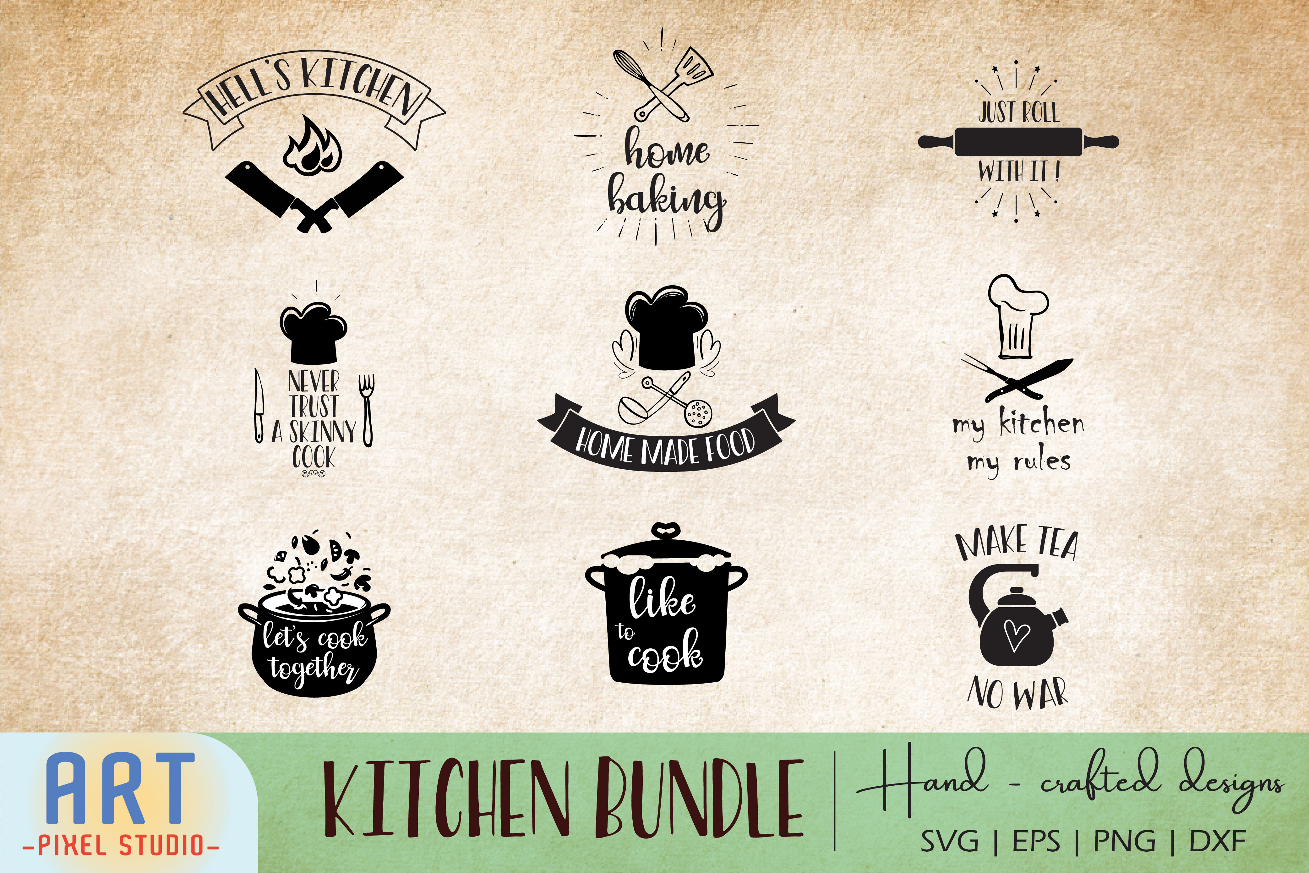 Kitchen Quotes Bundle Svg Cooking Svg For Cricut By Art Pixel