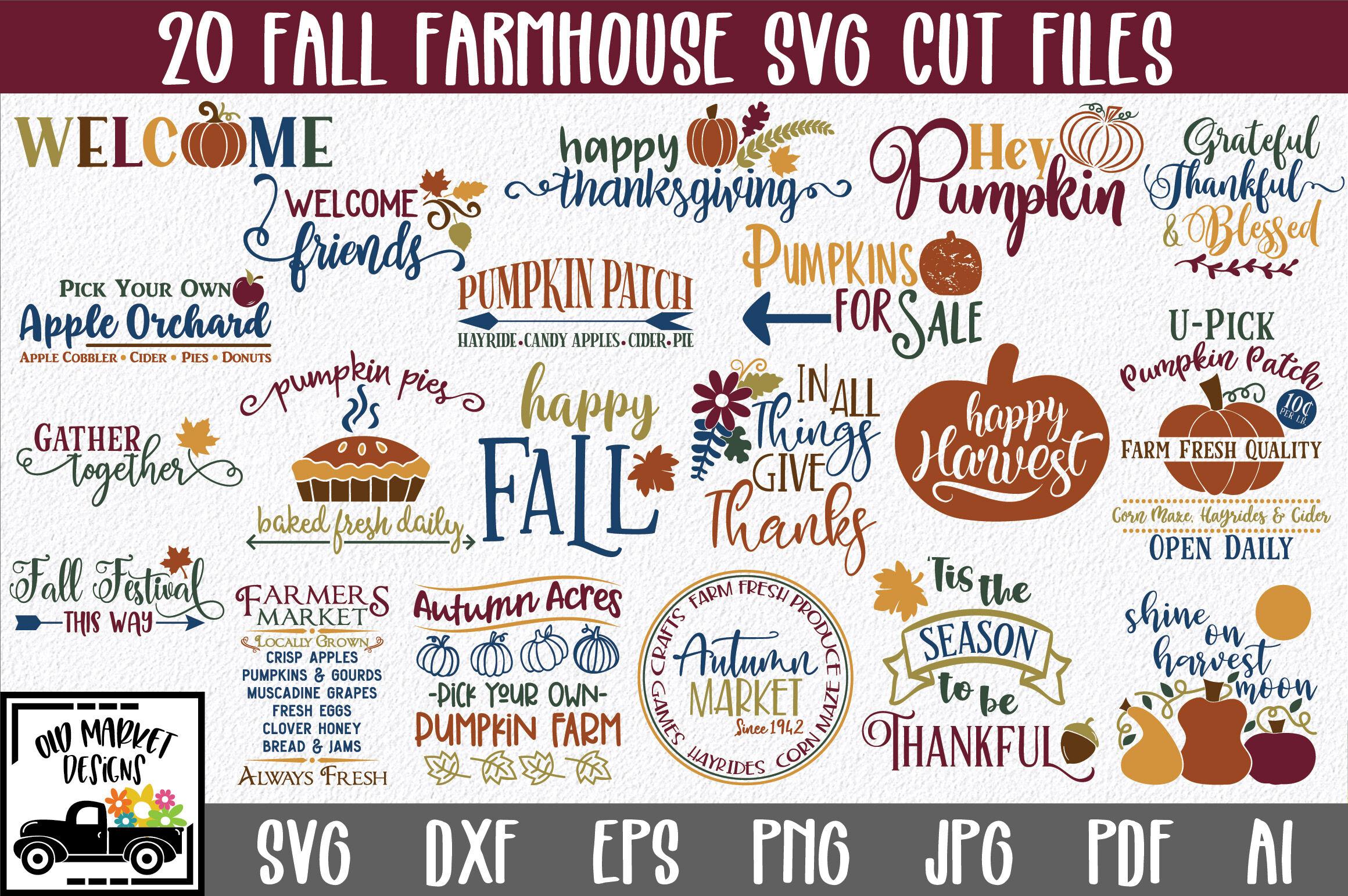Fall Farmhouse Svg Cut File Bundle By Shannon Keyser Thehungryjpeg Com