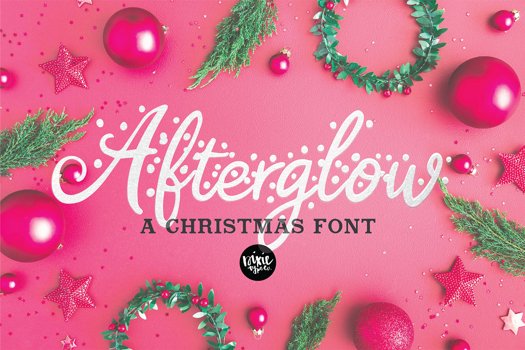Afterglow A Christmas Snow Holiday Font By Dixie Type Co