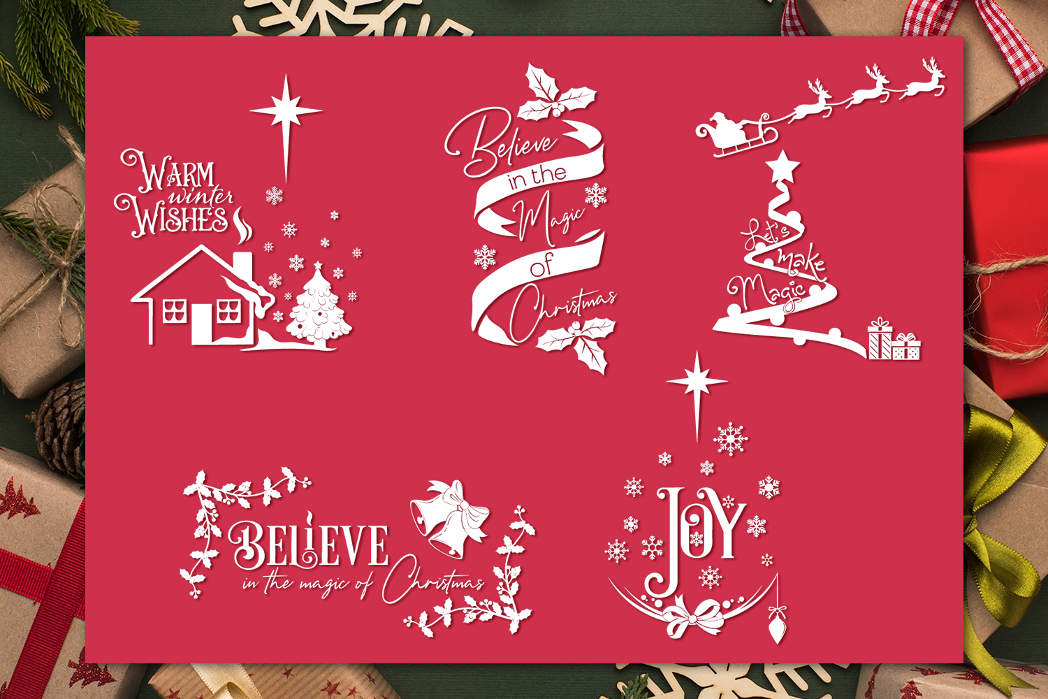 Christmas Quotes Svg Bundle By Anastasia Feya Fonts Svg Cut
