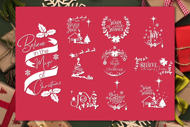 Christmas Quotes Svg Bundle By Anastasia Feya Fonts Svg Cut