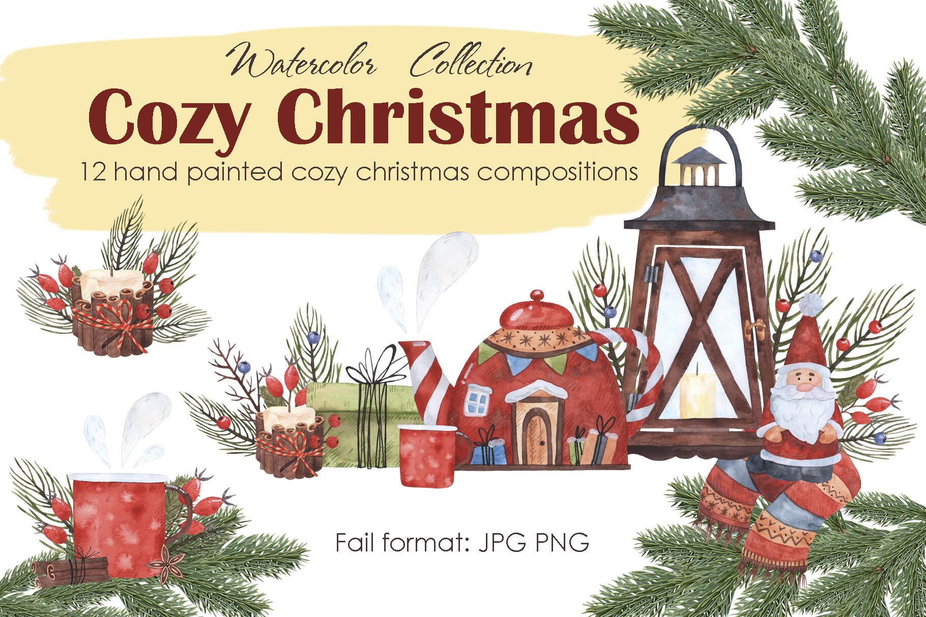 Cozy Christmas Compositions By Mari Artchef Thehungryjpeg Com