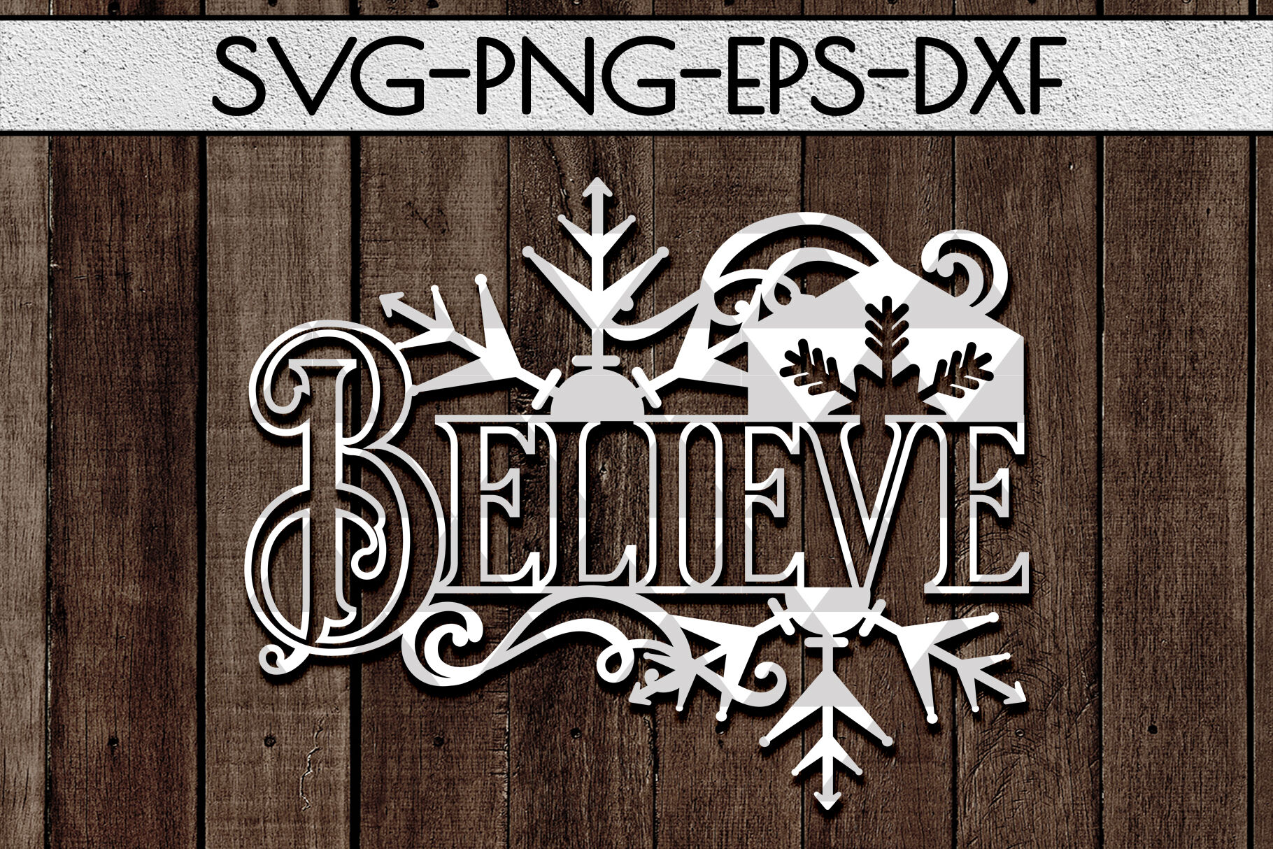 Christmas Papercut Templates Bundle Xmas Tree Decor Dxf By Mulia