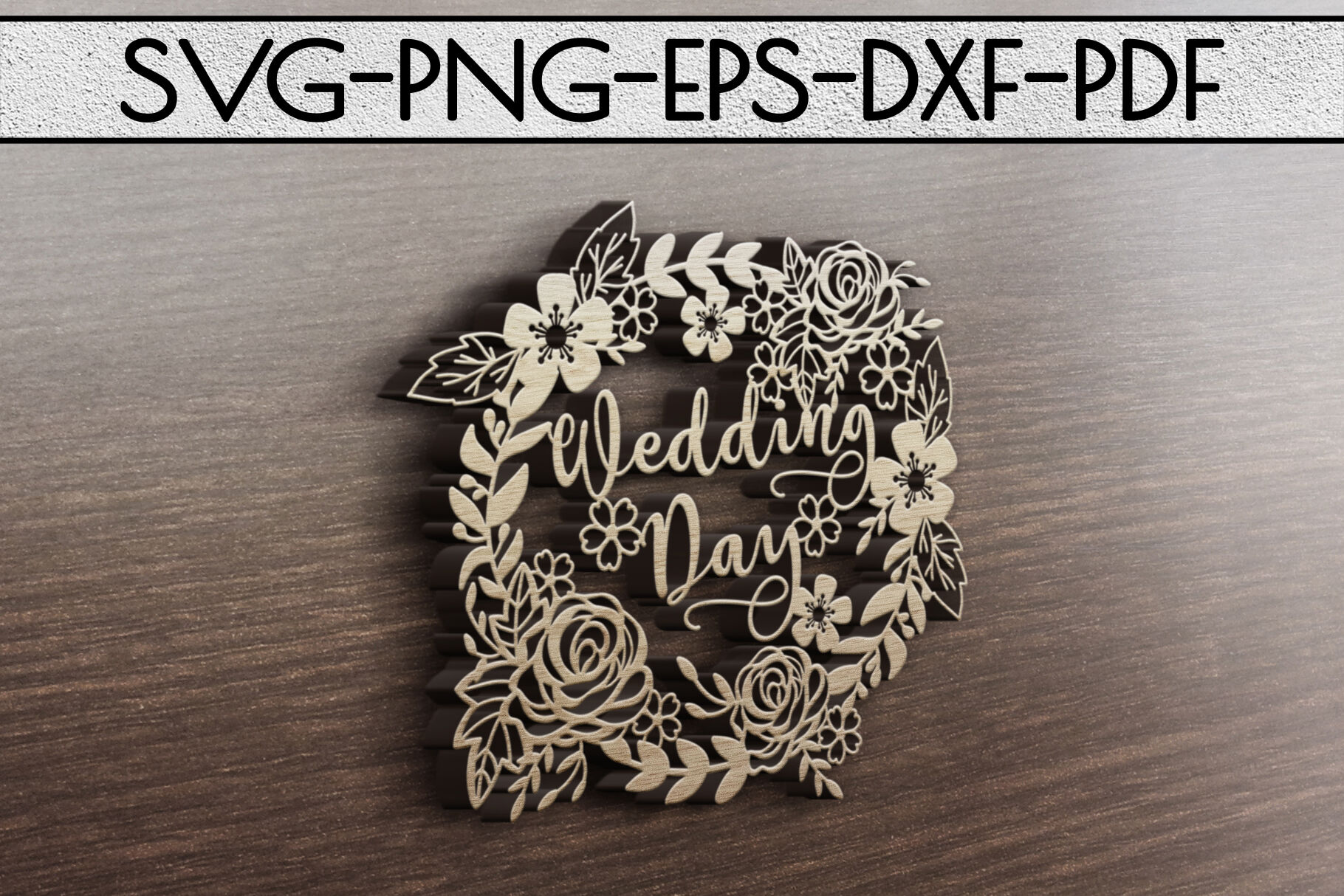 Wedding Day Papercut Template Marriage Decor Svg Pdf Dxf By