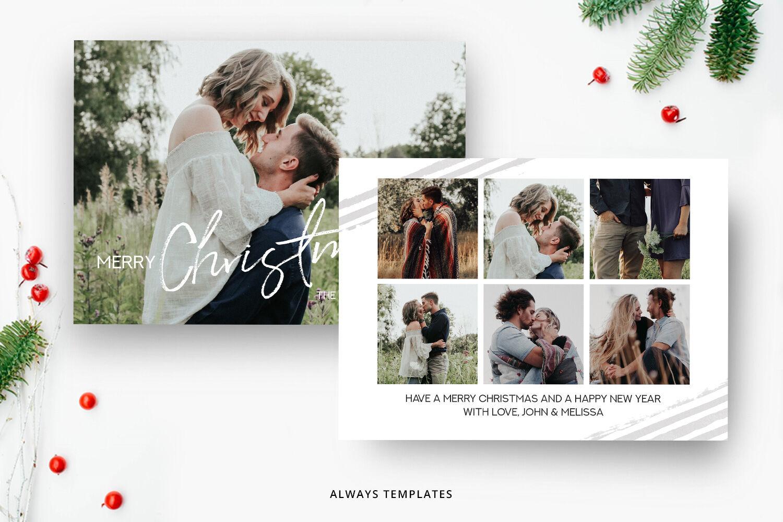 Christmas Card Template Cc012 By Always Templates Thehungryjpeg Com