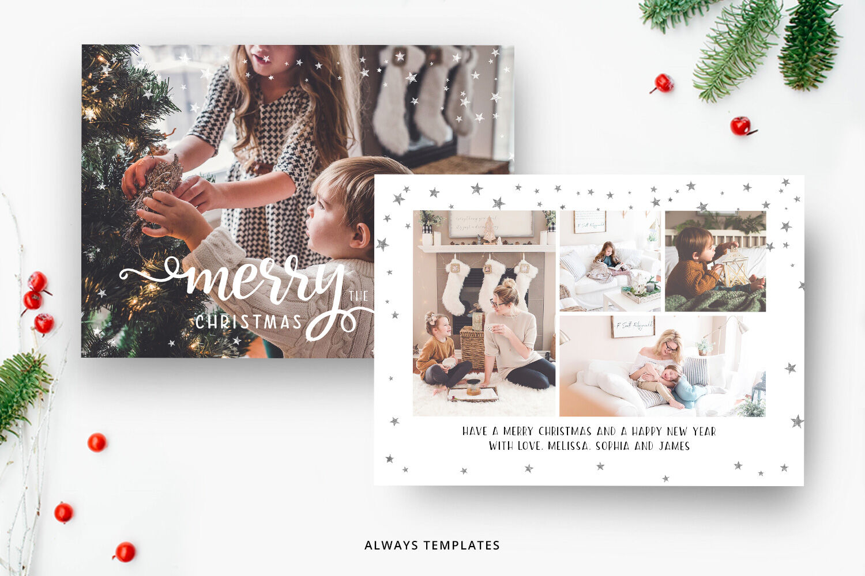 Christmas Card Template Cc031 By Always Templates Thehungryjpeg Com