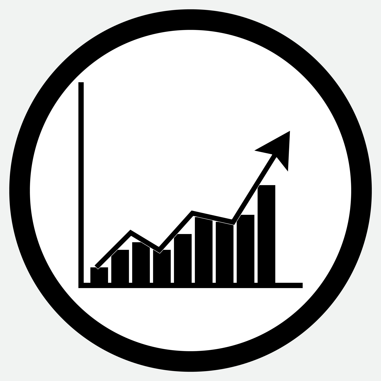 Growth Chart Icon Black White By 09910190 Thehungryjpeg Com