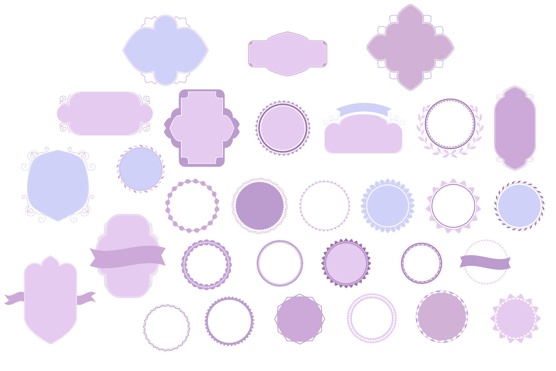 Badges Frames Svg Cut Files 30 Items By Tatiana Cociorva