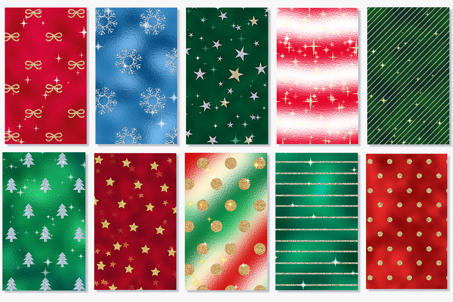 10 Christmas Backgrounds Holiday Digital Papers By Tatiana
