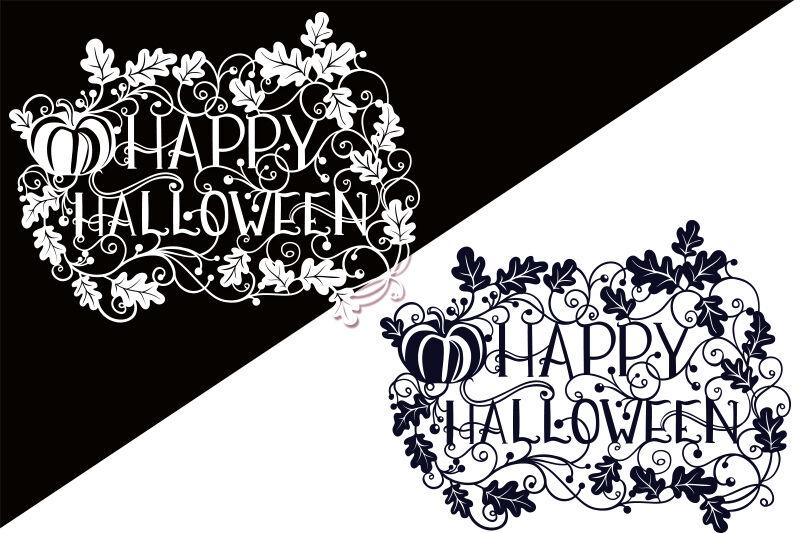 Happy Halloween Svg Papercut File By Tatiana Cociorva Designs