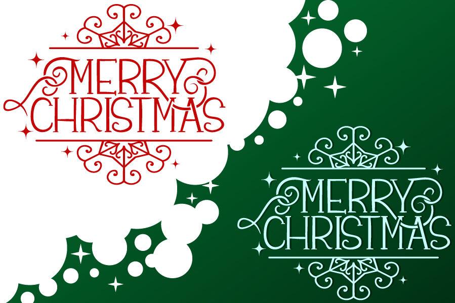 Merry Christmas Monogram Svg Cut File By Tatiana Cociorva Designs