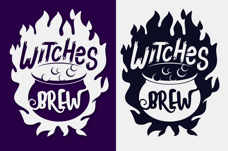Witches Brew Halloween Svg Papercut File By Tatiana Cociorva