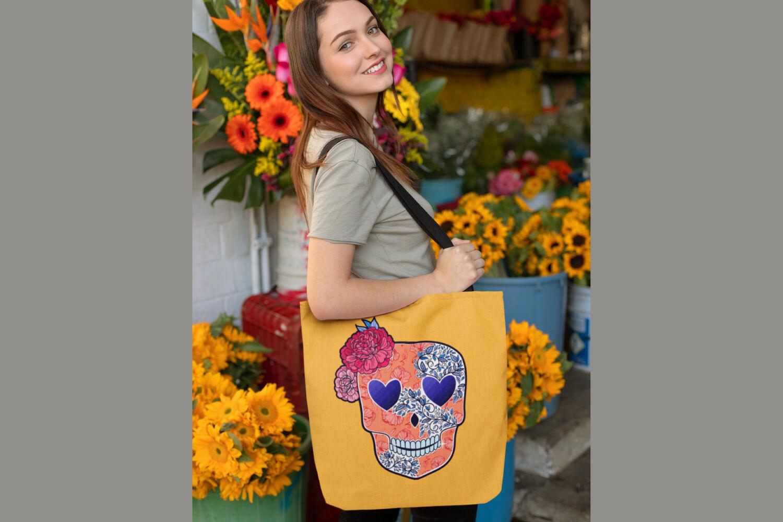 Sugar Skull Heart Floral Svg Sublimation Files By Tatiana