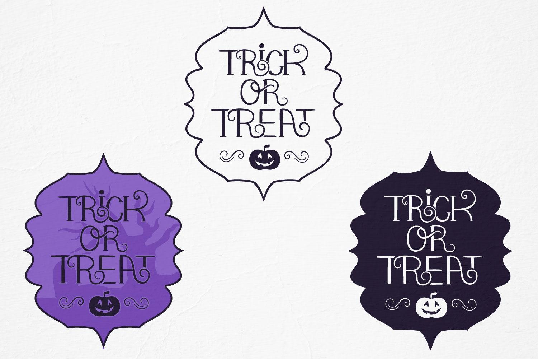 Trick Or Treat Halloween Vector Svg Files By Tatiana Cociorva